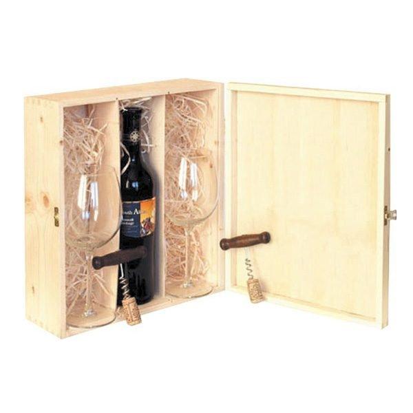 skrzyneczka szkatułka na 3 butelki wina
