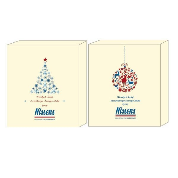 skrzyneczka szkatułka na 3 butelki wina z logo sitodruk