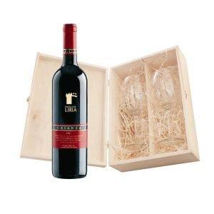 skrzyneczka szkatułka na 2 butelki wina