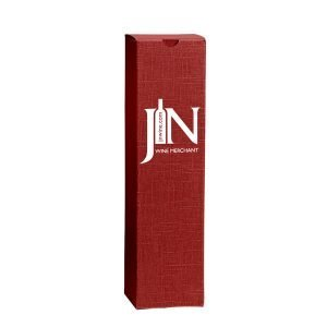 opakowanie na wino z logo czerwony klasyczny