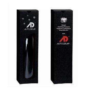opakowanie na wino z logo z otworem czarny z gwiazdkami