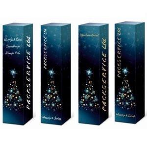 świąteczne opakowanie na wino z logo packservice