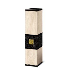 kartonik dla 1 butelki wina kremowy zdobiony