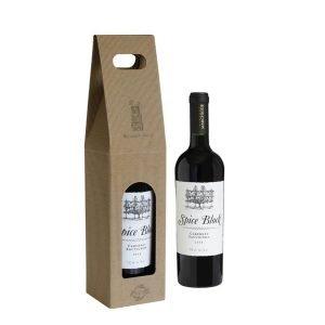 kartonik dla 1 butelki wina z otworem